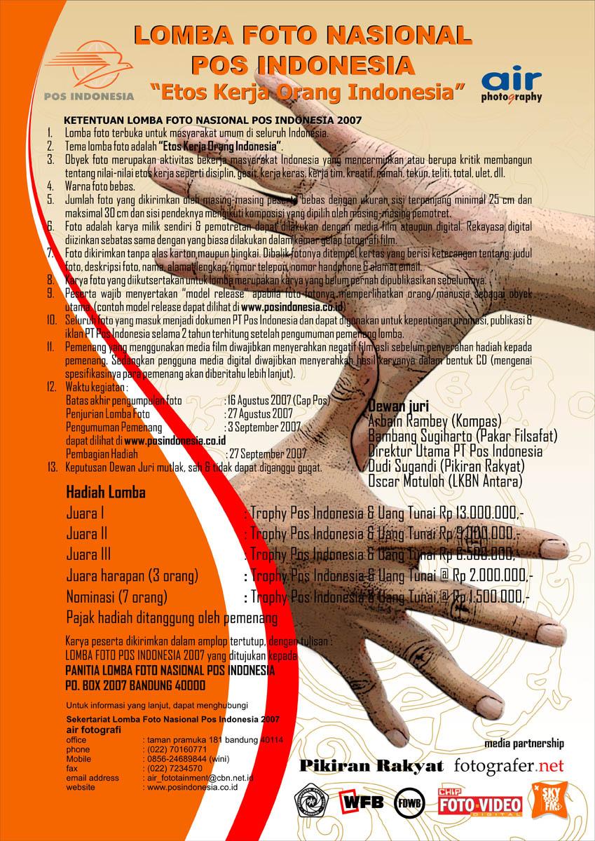 Poster Of Pos Indonesia Photo Contest 2007 Etos Kerja Orang