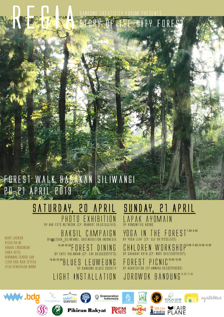poster pameran forest story
