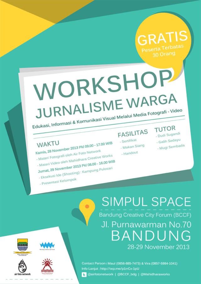 Workshop Jurnalisme Warga Edukasi Informasi Komunikasi Visual Melalui Media Fotografi Video Closed Air Foto Network