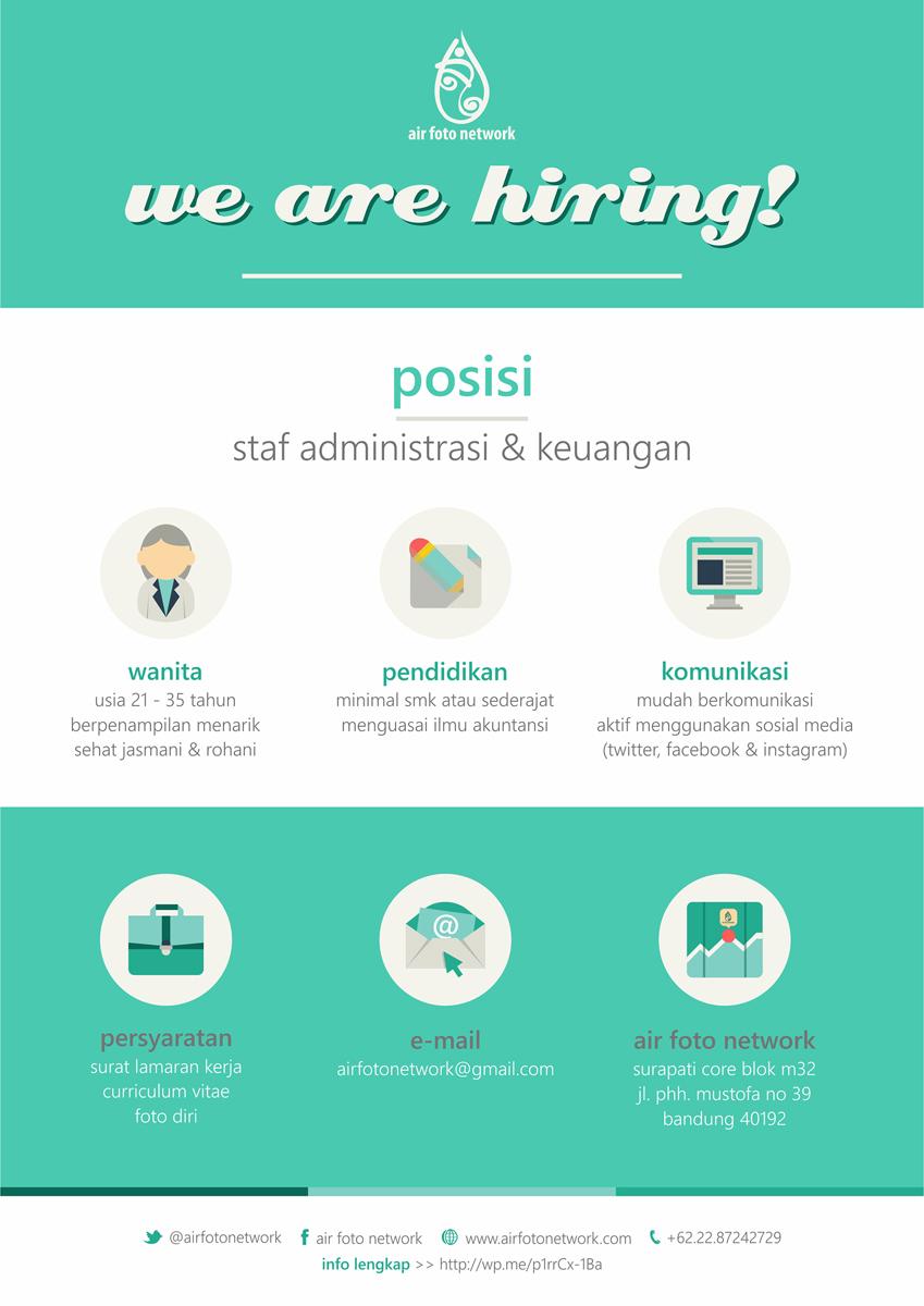 poster staf admin & finance